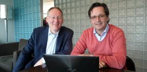 Robert Kool (Benelux Manager StatSoft Europe) en Joop Bruinzeel, Chief Credit Risk Officer Novum Bank